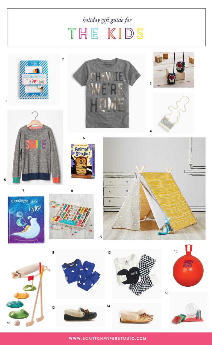Scratch Paper Studio Kids Gift Guide