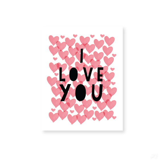 I Love You Greeting Card from Scratch Paper Studio