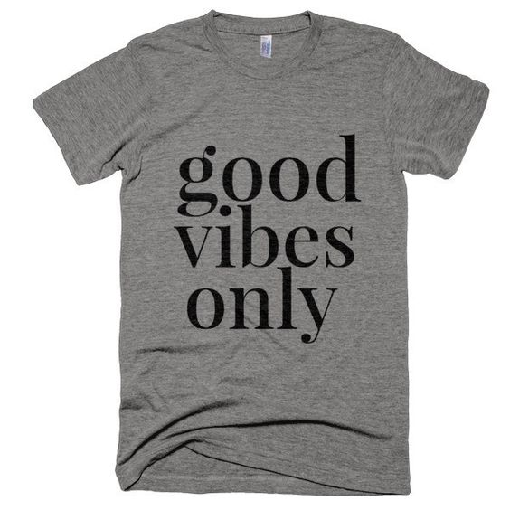 Good Vibes Only t-shirt from scratch paper studio