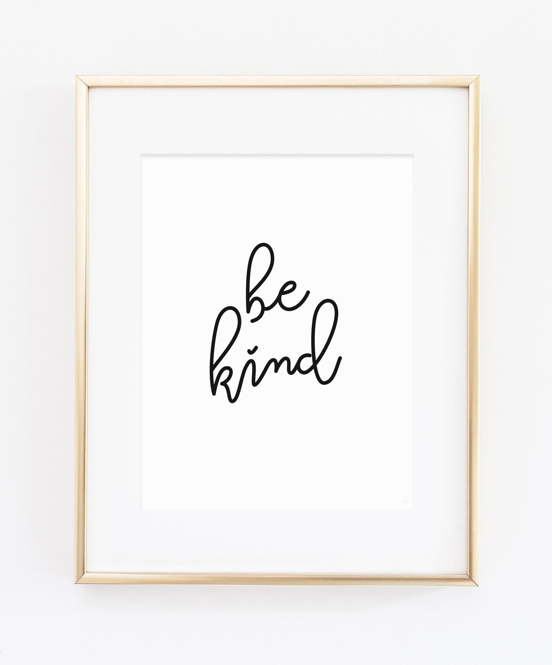 Be Kind Art Print from Scratch Paper Studio