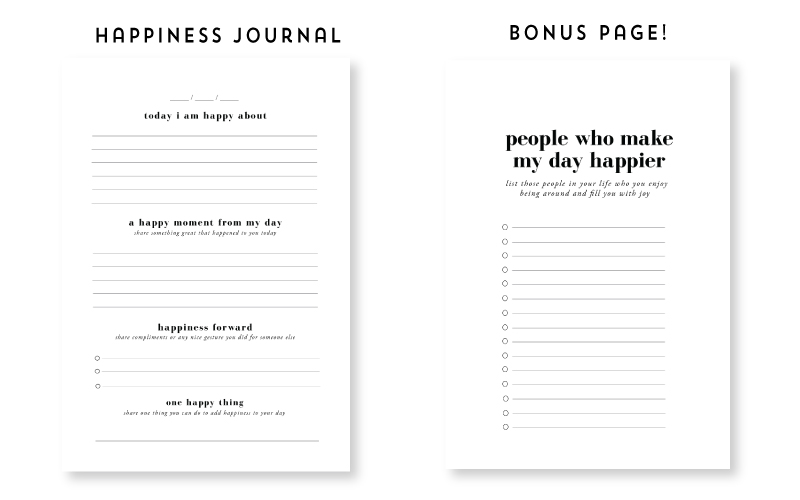 SPS-Happiness-Journal Pages