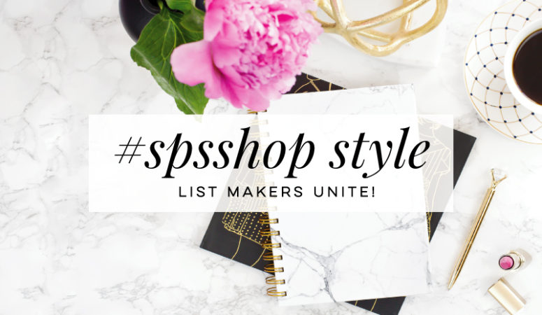#SPS Shop Style – The Benefits To Making a List