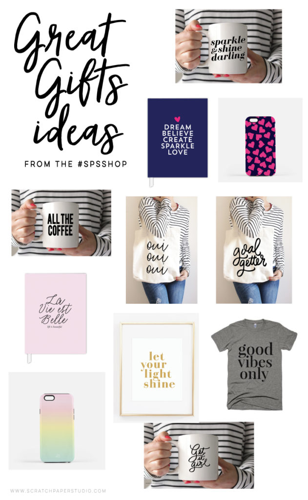 Great Holiday Gift Ideas from the Scratch Paper Studio Shop