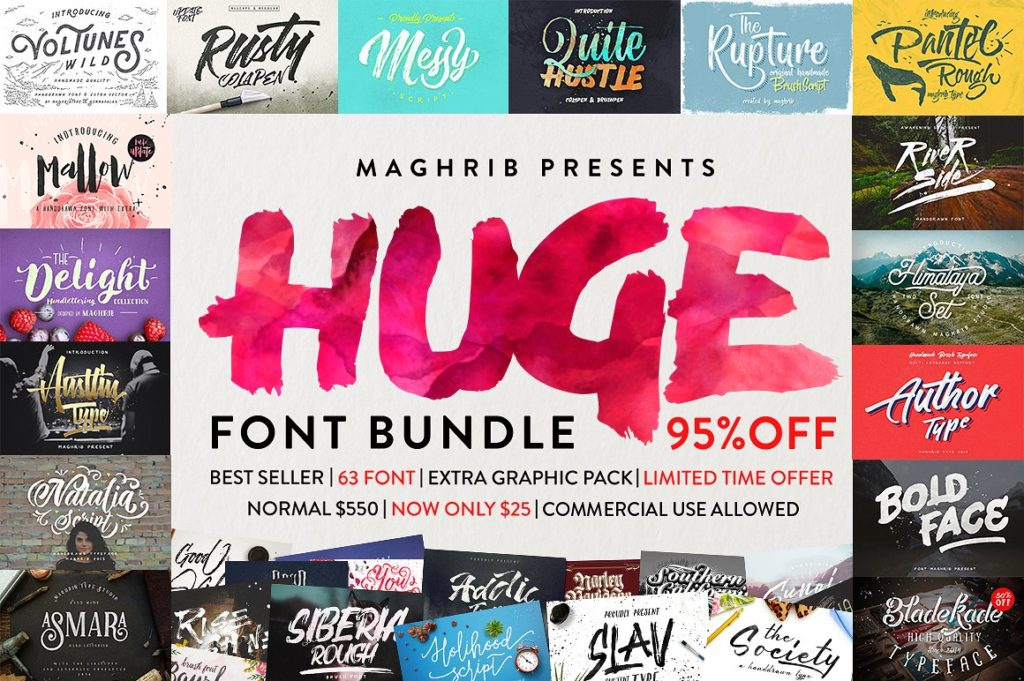 Thursday Type-Font Bundles-Huge Font Bundle