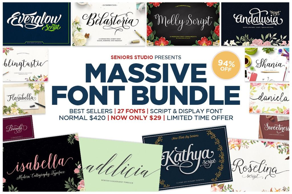 Thursday Type-Font Bundles-Massive Bundle
