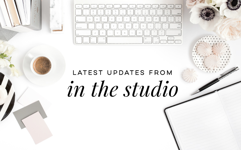 In the Studio – New Collections and More Coming Soon!
