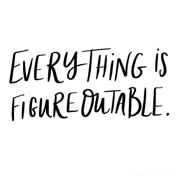 Monday Motivation: It's Figureoutable