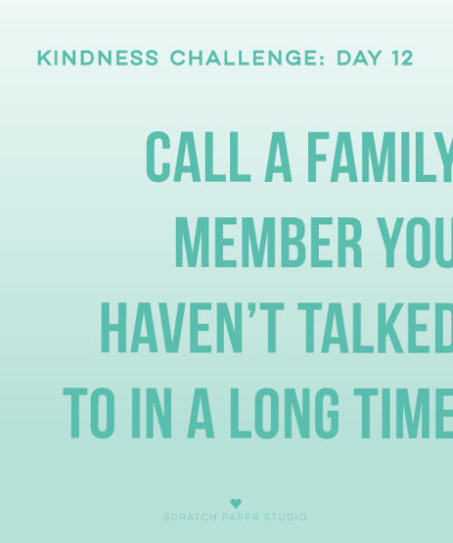 Kindness Challenge #12