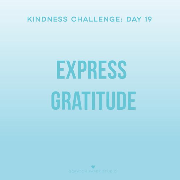 Kindness Challenge #19