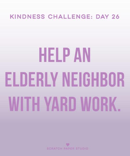 Kindness Challenge #26