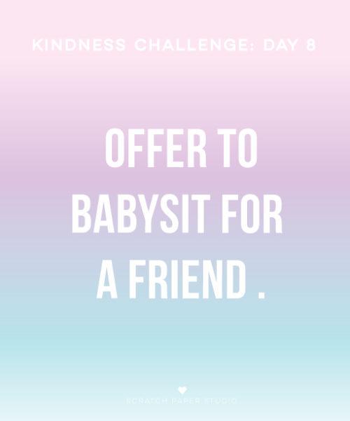 Kindness Challenge Day #8