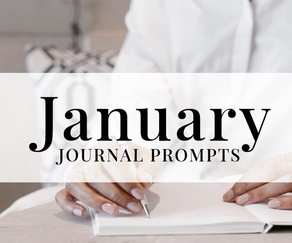 NEW January Journal Prompts