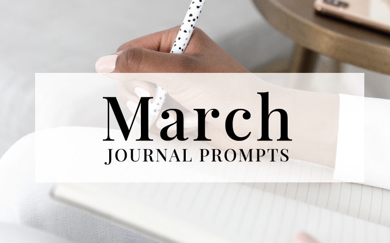 NEW March Journal Prompts